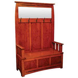 Simply Amish Aspen Hall Bench