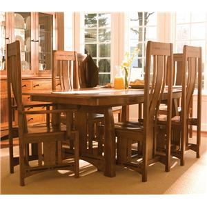 Simply Amish Aspen 7 Piece Aspen Table & Chair Set