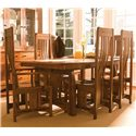 Simply Amish Aspen 7 Piece Aspen Table & Chair Set - Item Number: MSA4272+2xSAAA+4xSAAS