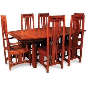 Simply Amish Aspen 7 Piece Dining Set