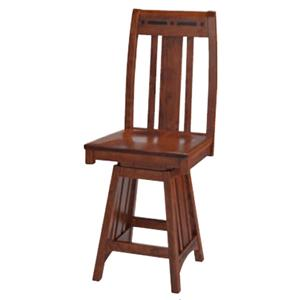 Simply Amish Aspen Swivel Barstool