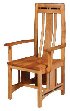 Wood Seat Aspen Chair with Lower Back