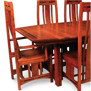 Simply Amish Aspen Dining Arm Chair w/ Ebony Inlays