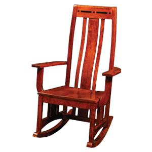 Simply Amish Aspen Rocker with Ebony Inlay