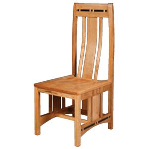 Simply Amish Aspen Wood Seat Aspen Side Chair with Lower Back