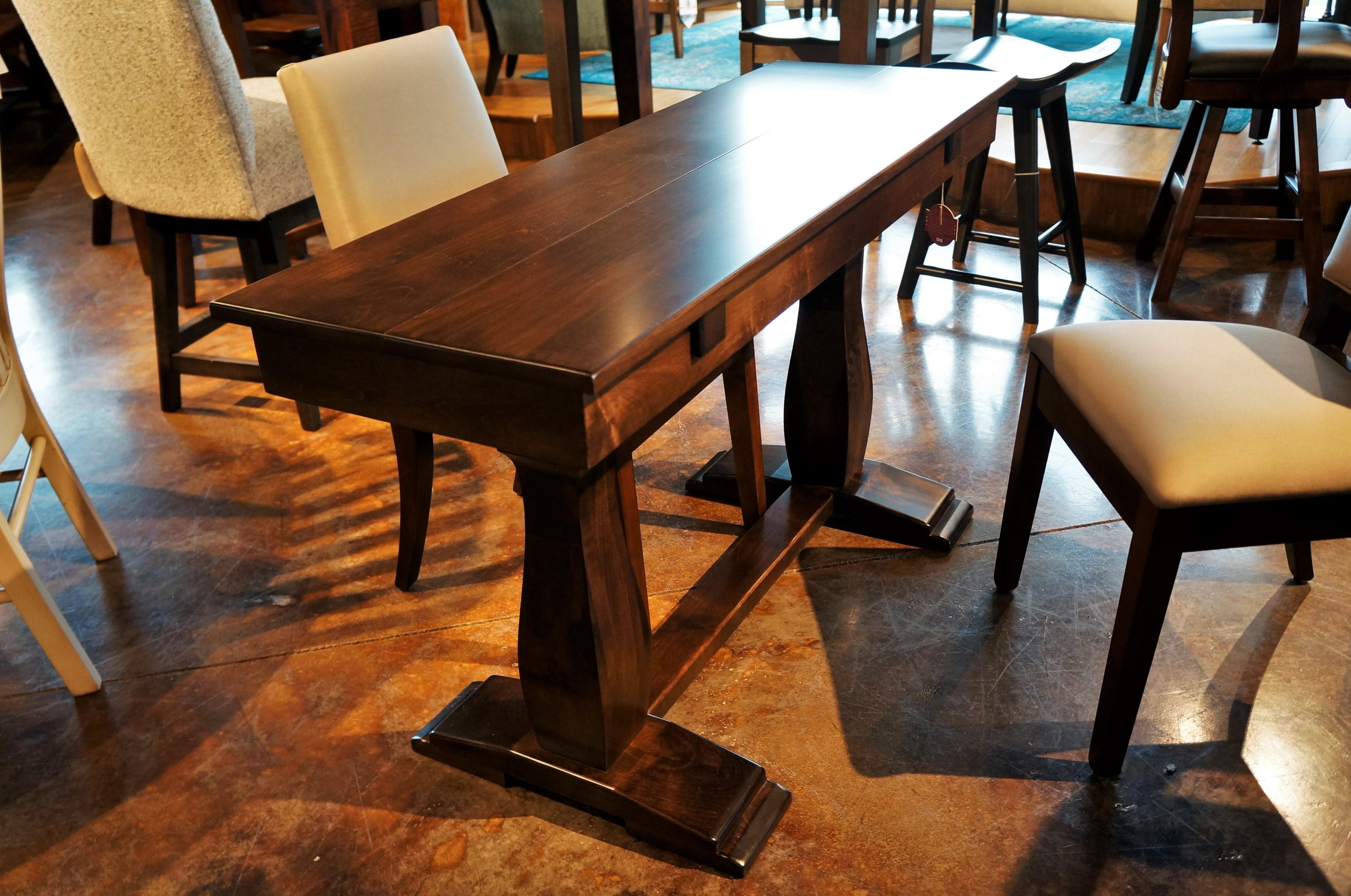 Simply Amish Avalon Sofa Dining Table With Trestle Base