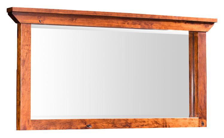 Simply Amish B and O Railroad Medium Bureau Mirror - Item Number: SMTRB-01A2-K28