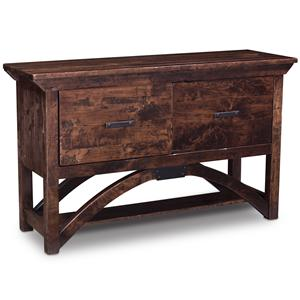 Simply Amish B and O Railroad Trestle Bridge File Console Table