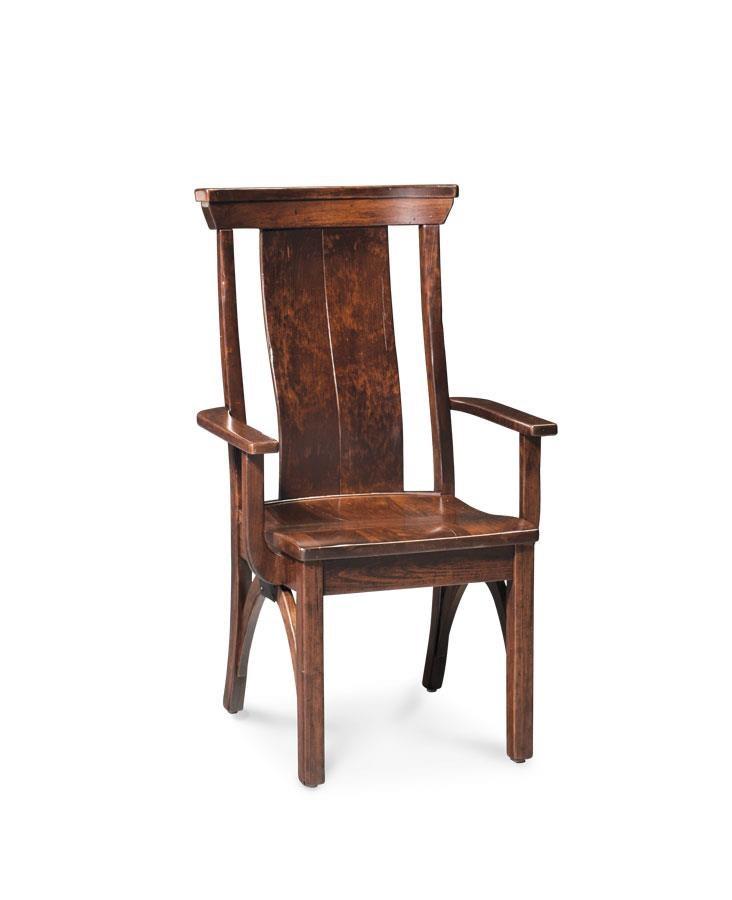 Trestle Arm Chair