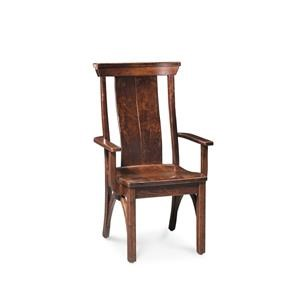 Simply Amish BO Railroad Trestle Arm Chair