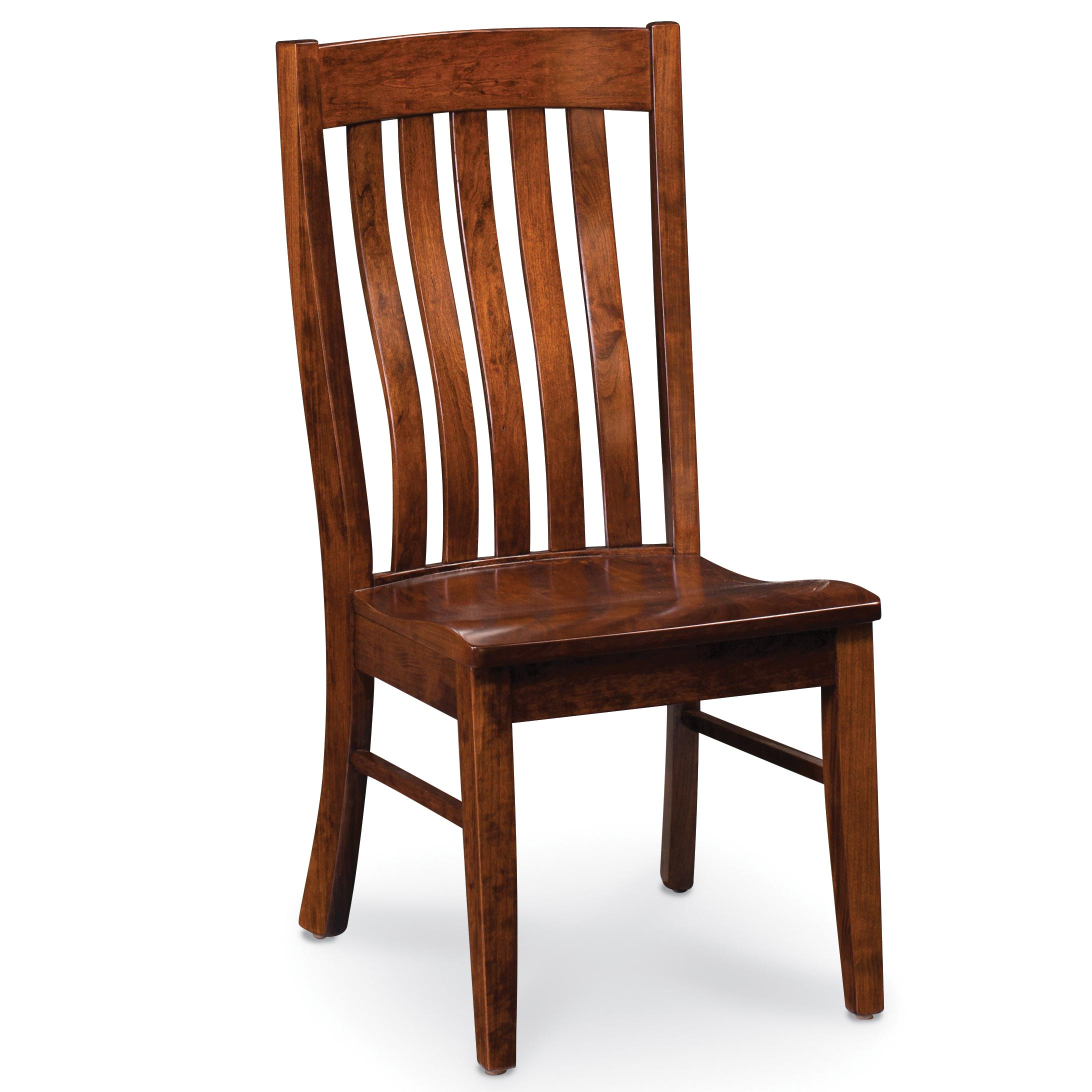 Simply Amish Chairs Ecbrd 02a W Bradford Side Chair With Slat Back Becker Furniture World