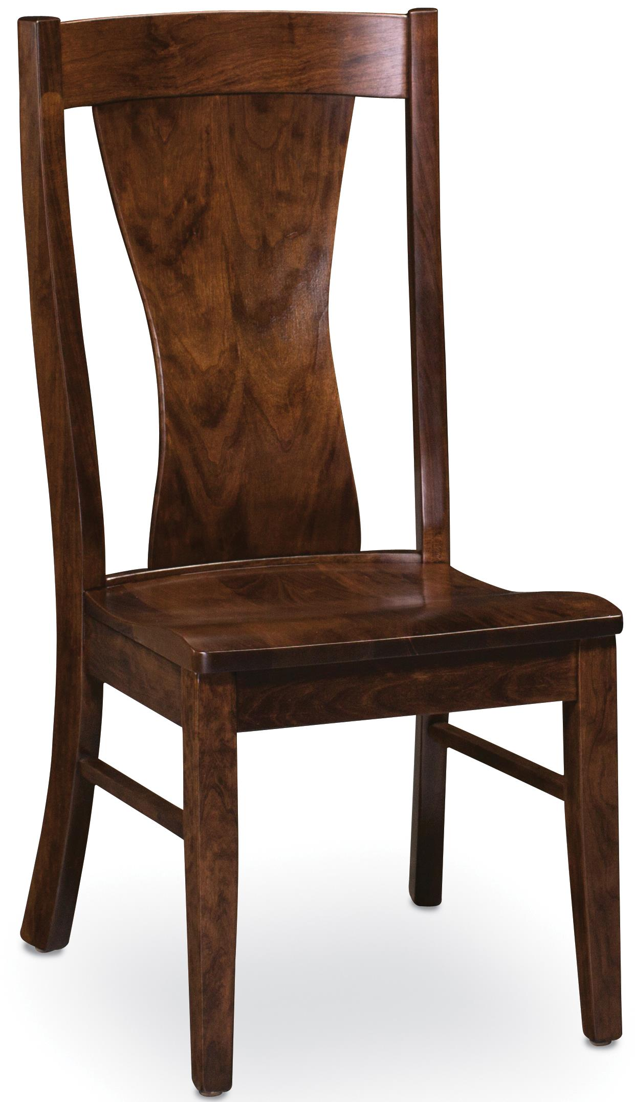 Simply Amish Chairs Joseph Side Chair - Item Number: ECJSP-02A-W-C30
