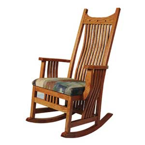 Simply Amish Royal Mission Rocker w/ Cushin