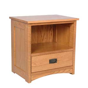 Simply Amish Prairie Mission Nightstand with Opening