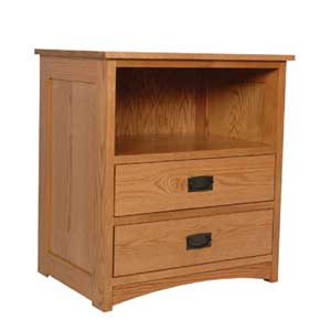 Simply Amish Prairie Mission Deluxe Nightstand with Opening