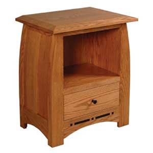 Simply Amish Aspen Nightstand with Opening