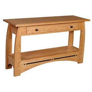 Simply Amish Aspen Drawer Sofa Table