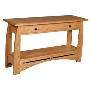Simply Amish Aspen Drawer Sofa Table