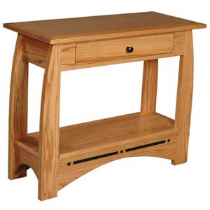 Simply Amish Aspen Drawer Console Table