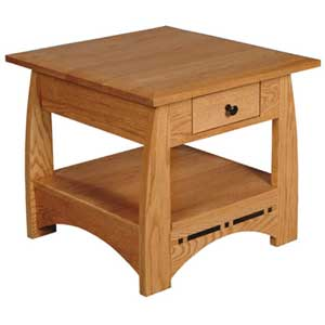 Simply Amish Aspen Drawer End Table