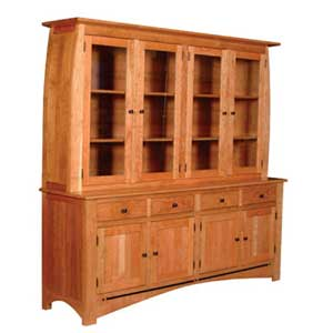 Simply Amish Aspen 4-Door Hutch