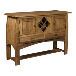 Simply Amish Aspen Sideboard Wine Rack