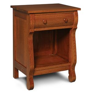 Simply Amish Empire Nightstand with Opening