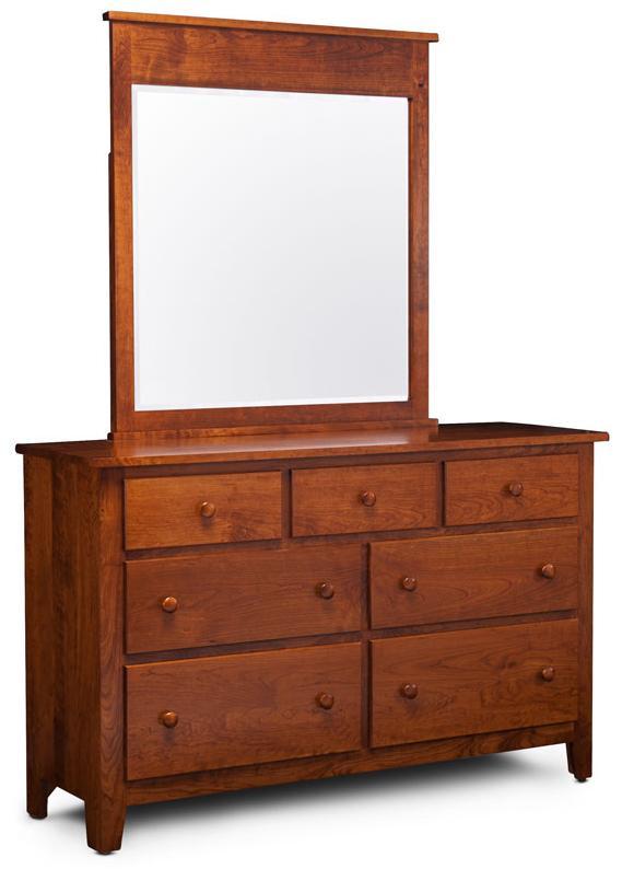 Simply Amish Express Shenandoah Express Dresser and Mirror - Item Number: MEX-01D-K26+DM-K26