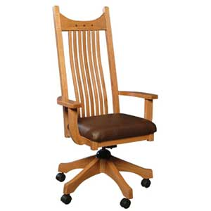 Simply Amish Royal Mission Desk Chair w/Cushin