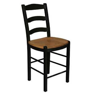 Simply Amish Shaker Amish 5-Slot Breakfast Stool