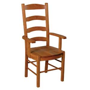 Simply Amish Shaker Amish Ladder Arm Chair