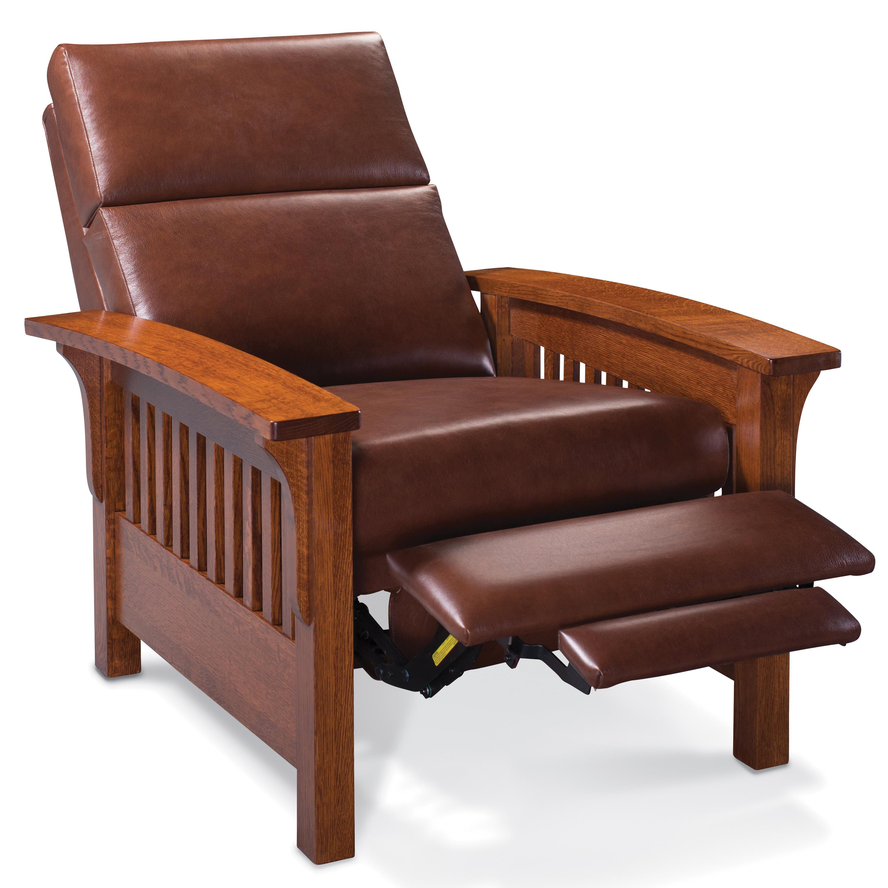 Wood Arm Recliner ~ Simply amish grand rapids xq ajhlr ld high leg recliner