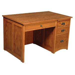 Simply Amish Prairie Mission Flat Top Desk