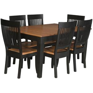 Simply Amish Homestead Amish 7 Piece Dining Set