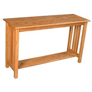 Simply Amish Mission Amish Sofa Table