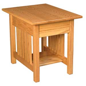 Simply Amish Mission Amish 1-Drawer End Table