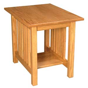 Simply Amish Mission Amish End Table