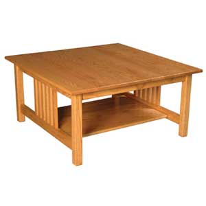 Simply Amish Mission Amish Square Coffee Table