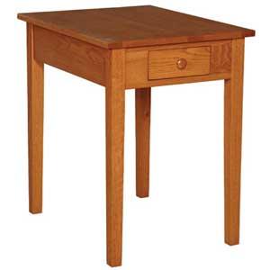 Simply Amish Shaker Amish Drawer Lamp Table