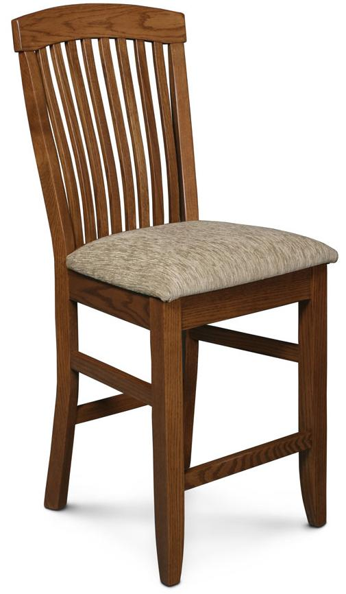 Simply Amish Justine 24 Quot Stationary Bar Stool W Sculpted