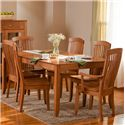 Simply Amish Justine Side Chair w/ Sculpted Seat - Shown with Table and Arm Chairs