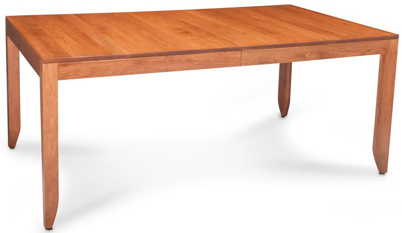 Justine Leg Table by Simply Amish at Mueller Furniture