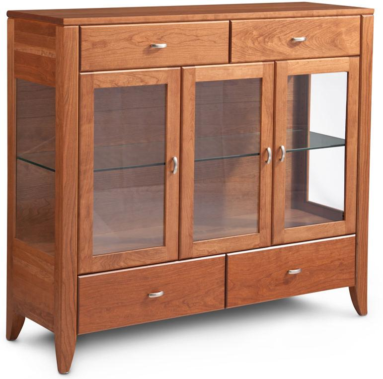 Dining Cabinet with Plain Glass Doors