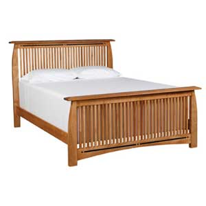 Simply Amish Aspen Queen Spindle Bed