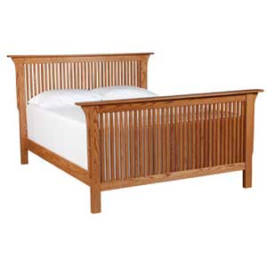 Simply Amish Prairie Mission Queen Prairie Mission Bed
