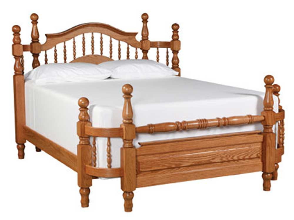 Simply Amish Country Queen Spindle Wrap Around Bed