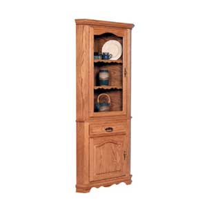 Simply Amish Classic 1 Door Closed Corner Hutch