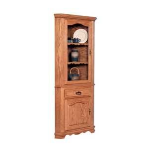 Simply Amish Classic 1 Door Closed Corner Hutch