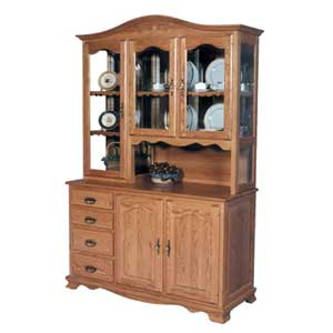 Simply Amish Classic 3 Door Hoosier Hutch