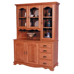 Simply Amish Classic 3 Door Hoosier Hutch Right